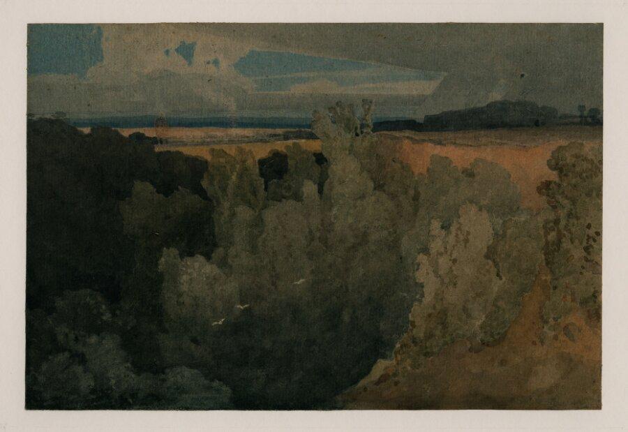 On the Greta above Devil's Elbow, near Rokeby. Called 'Brignall Banks on the Greta'.