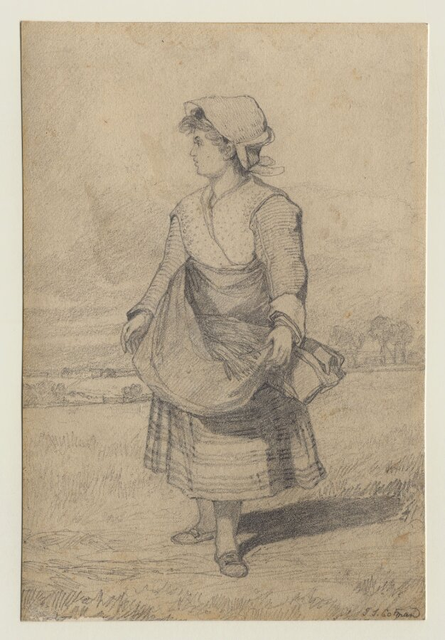 The Gleaner; ?Ann Cotman, the daughter of John Sell Cotman, aged about twelve.